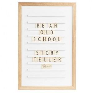 Доска для создания надписей old school letter board White 30*45