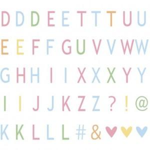 Набір літер  Pastel letters