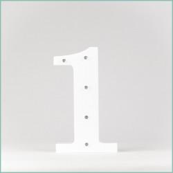 Светящаяся цифра 1
