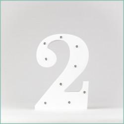 Светящаяся цифра 2