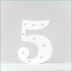 Светящаяся цифра 5