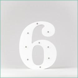 Светящаяся цифра 6