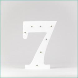 Светящаяся цифра 7