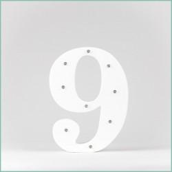 Светящаяся цифра 9