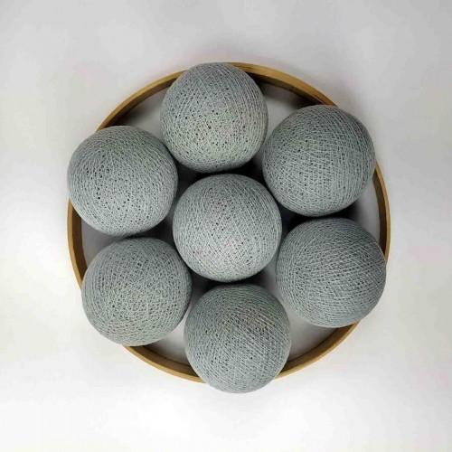 Декоративные шарики из ниток - chalk-grey