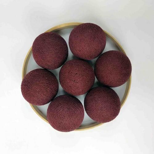 Декоративные шарики из ниток - dark-red