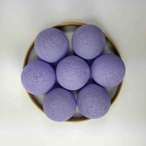 Декоративные шарики из ниток - lavander