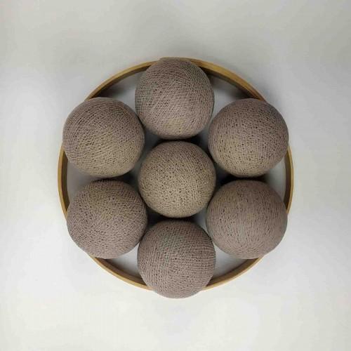 Декоративные шарики из ниток - mause