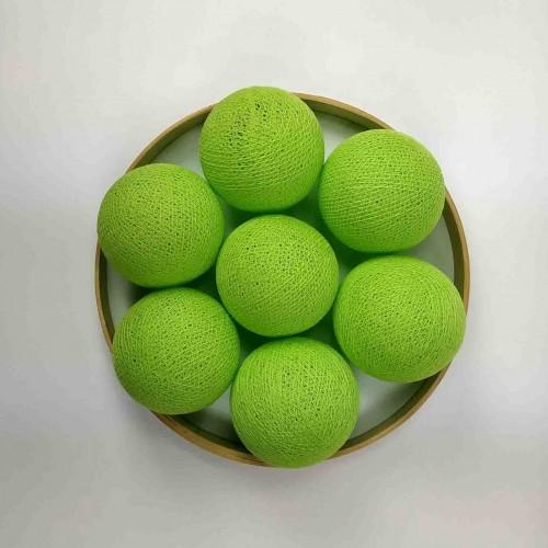 Декоративные шарики из ниток - neon green