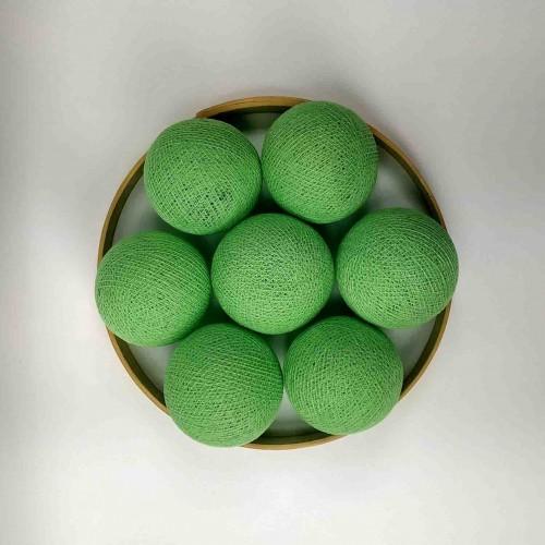 Декоративные шарики из ниток - new-green