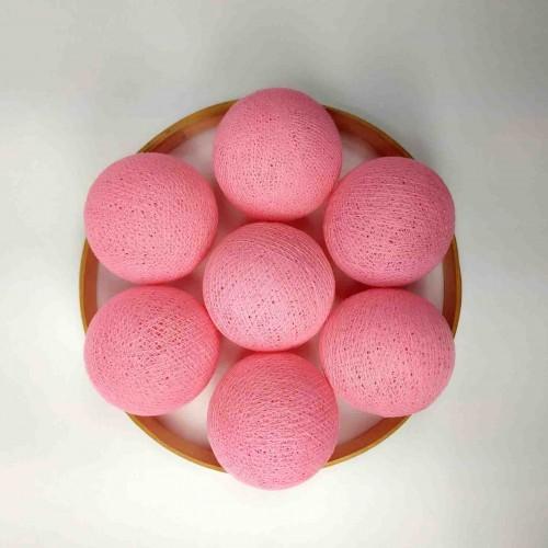 Декоративные шарики из ниток - soft pink