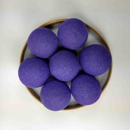 Декоративные шарики из ниток - violet