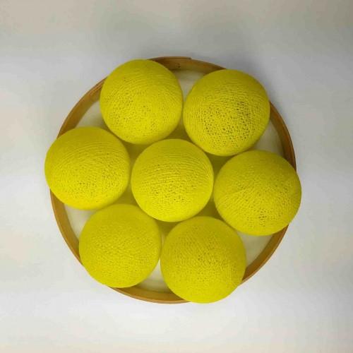 Декоративные шарики из ниток - yellow