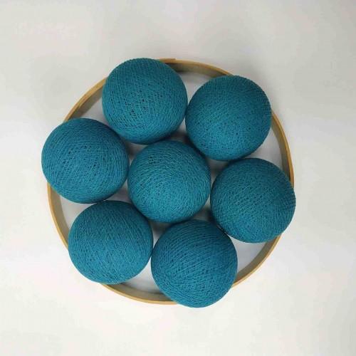 Декоративные шарики из ниток - heavy aqua