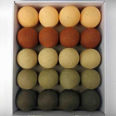 гірлянда кульки з ниток-beige-mud