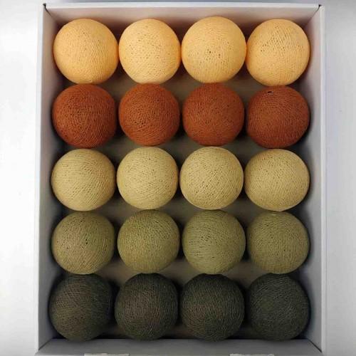 гирлянда шарики из ниток-beige-mud