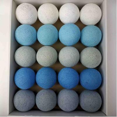 гірлянда кульки з ниток-blue-soft-grey