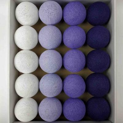 гірлянда кульки з ниток-lavander-violet