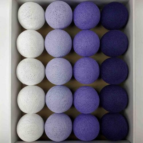 гирлянда шарики из ниток-lavander-violet
