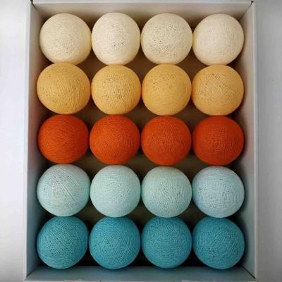 гірлянда кульки з ниток-light-aqua-soft-orange