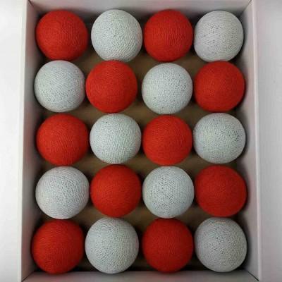 гірлянда кульки з ниток-red-chalk-grey