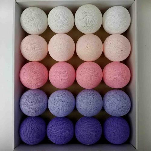 гирлянда шарики из ниток-soft-pink-lavander