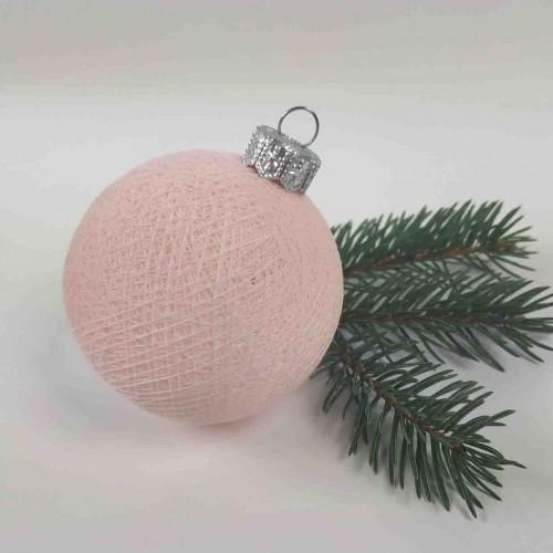 Шарик на ёлку из ниток Light Pink