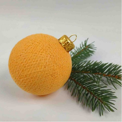 Шарик на ёлку из ниток Soft Orange