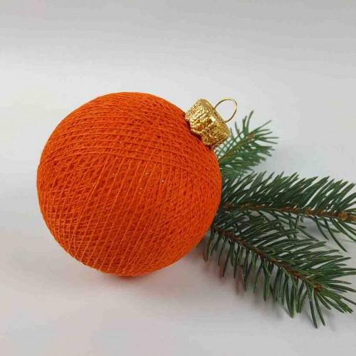 Шарик на ёлку из ниток Dutch Orange