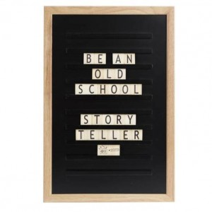 Доска для создания надписей old school letter board Black 30*45