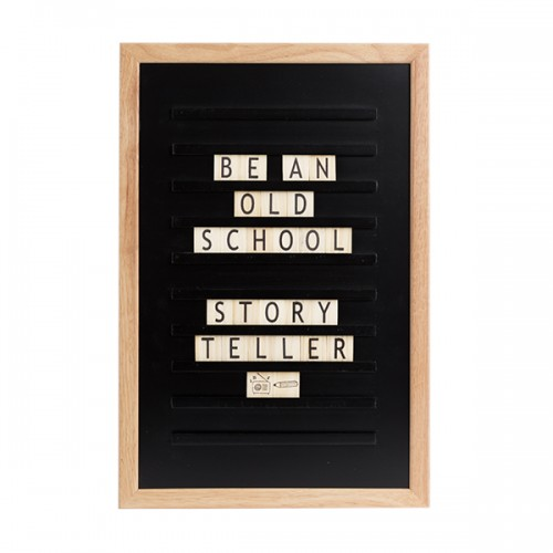 Доска для создания надписей old school letter board Black 30*45