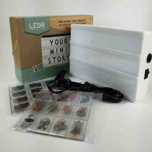 Лайтбокс с буквами MINI LEDR А6 - CREAM