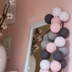 Хлопковая гирлянда Pink-Grey