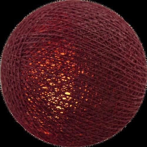 Хлопковый шарик Dark Red