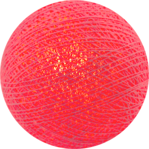 Хлопковый шарик Coral Pink