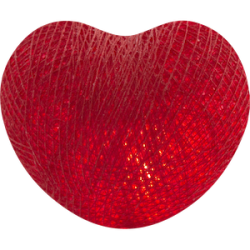 Хлопковый шарик Heart Red