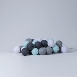 Хлопковая гирлянда Aqua-Grey