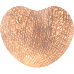 Хлопковый шарик Heart White