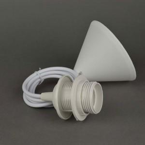 Пластиковые подвески со шнуром одинарные «White»