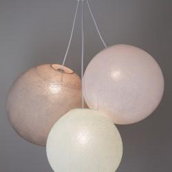Хлопковый светильник из цветов Light Aqua - White - Stone