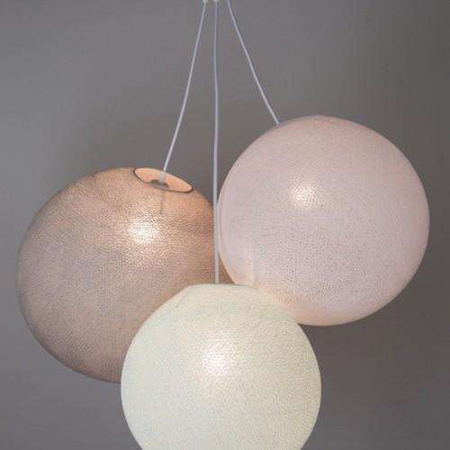 Люстра из нитей Light Aqua - White - Stone