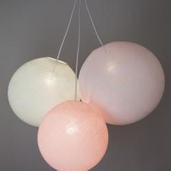 Хлопковый светильник из цветов Light Pink - Light Aqua - White