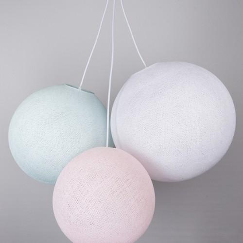 Люстра из нитей  Light Pink - Light Aqua - White