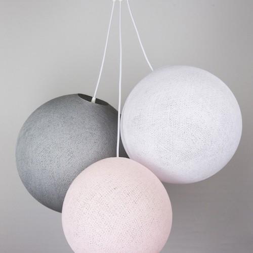 Люстра из нитей  Light Pink - White - Stone