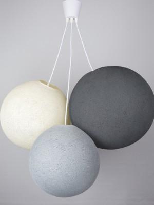 Хлопковый светильник из цветов Stone - Shell - Mid grey