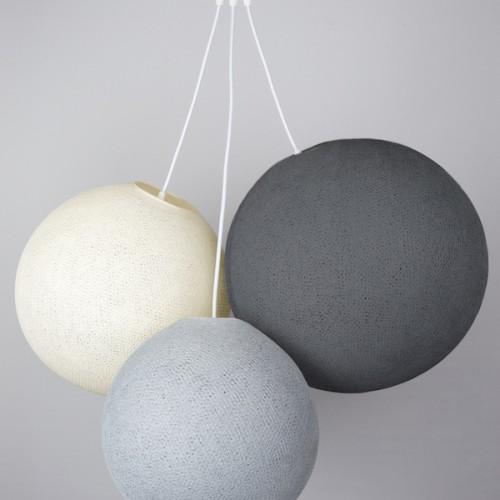 Люстра из нитей  Stone - Shell - Mid grey