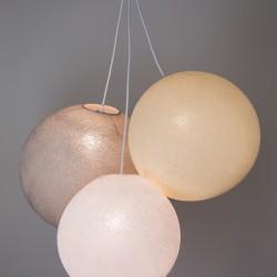 Хлопковый светильник из цветов White - Shell - Stone