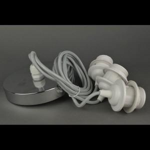 Хромированные подвески со шнуром тройные «Stone»