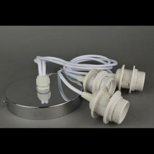 Хромированные подвески со шнуром тройные «White»