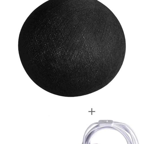 Cветильник подвесной шар Black